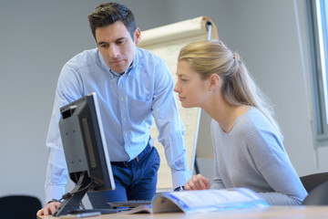male and female it programmers testing new software application