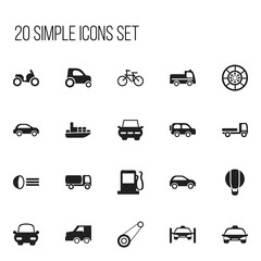 Set Of 20 Editable Shipment Icons. Includes Symbols Such As Moped, Taxi, Automotive And More. Can Be Used For Web, Mobile, UI And Infographic Design.