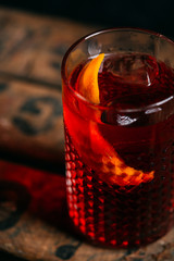 Negroni cocktail (old fashioned)