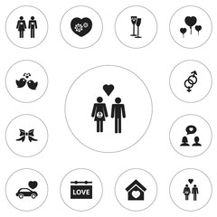 Set Of 12 Editable Passion Icons. Includes Symbols Such As Banner, Celebration, Family And More. Can Be Used For Web, Mobile, UI And Infographic Design.