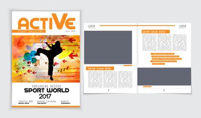 Sport brochure layout
