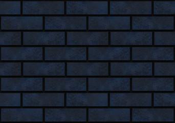 3d redndering. seamless luxury dark blue bricks wall background