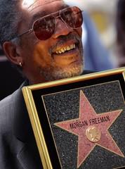 MORGAN FREEMAN RECEIVES STAR ON HOLLYWOOD WALK OF FAME.