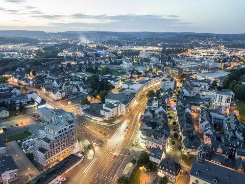 City of Wetzlar at night, Germany