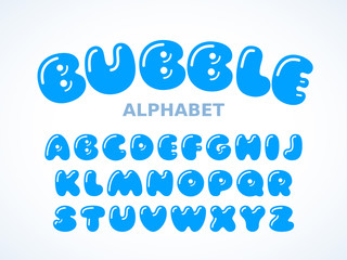 Vector bubble alphabet