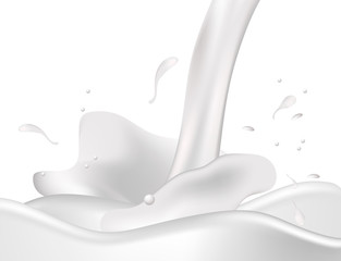 Milk. Vector.
