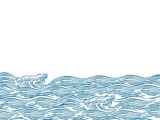 波 和柄イラスト Wall mural