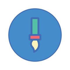 Stationery Office tool icon blue button