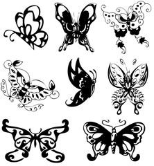 Butterfly vector icon collection