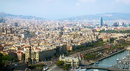 Historical neighbourhoods of Barcelona, view above