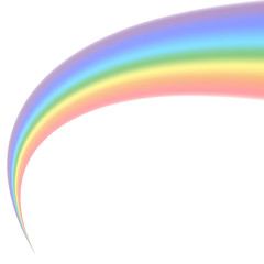 Rainbow icon. Shape arch isolated on white background. Colorful light and bright design element. Symbol of rain, sky, clear, nature. Flat simple graphic style Vector illustration