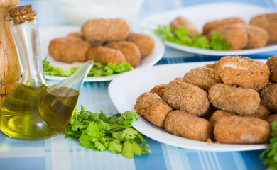 Home-made croquettes