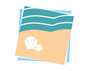 seashore seaside beach coast icon vector