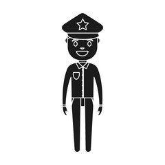 police man icon over white background vector illustration