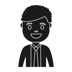 cartoon businessman icon over white background colorful design vector illustration