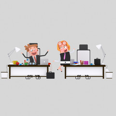 Business people spending time at office