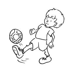 kleurplaat van voetballer