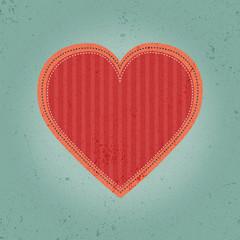 Vintage stitched heart