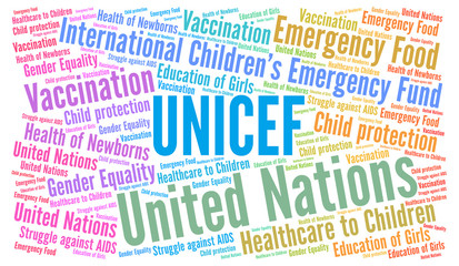 Unicef word cloud
