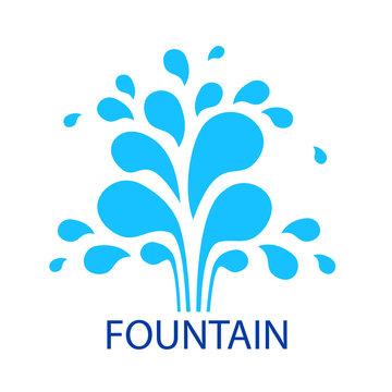 Vector abstract fountain