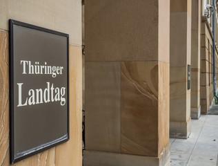 Thüringer Landtag Schild
