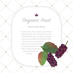 Colorful watercolor texture nature organic fruit memo frame black mulberry