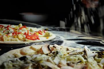 tasty italian pizza close up - traditional dish