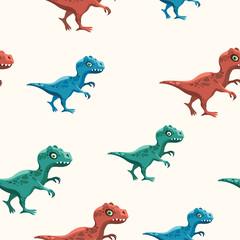 Seamless pattern with dinosaurs - tyrannosaurus.