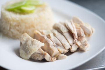 Hainanese boiled chicken