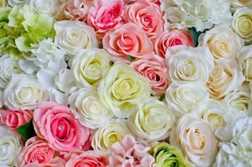 wedding flower decoration  / flower backdrop background