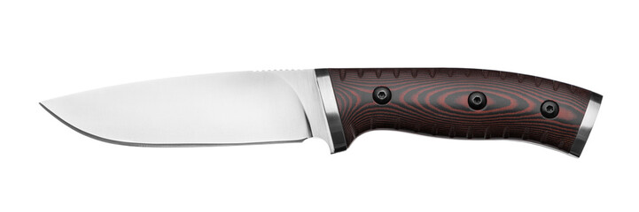 Hunting knife isolated on white