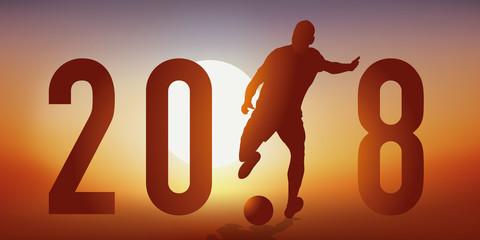2018 - football - carte de vœux - présentation - coupe du monde - compétition
