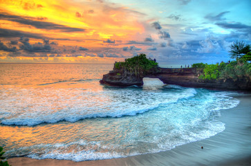 Wall Murals Bali Tanah Lot Temple on Sea in Bali Island Indonesia..
