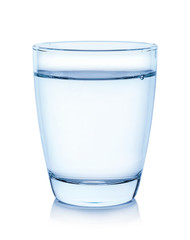 water glass isolated on white background with clipping path