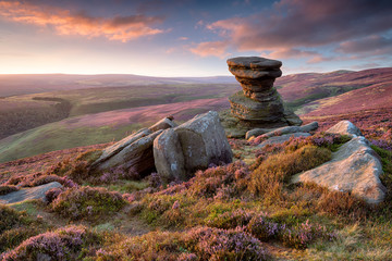 Wall Mural - The Salt Cellar on Derwent Edge in the Peak District