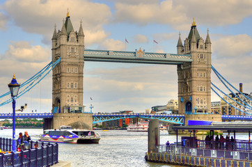 London Skyline landscape with Big Ben, Palace of Westminster, London Eye, Westminster Bridge, River Thames, London, England, UK...