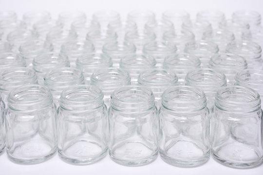 Short glass bottle no cap.