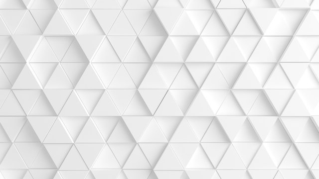 White background with triangles. 3d image, 3d rendering.