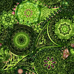 Paisley vintage floral motif ethnic seamless background.
