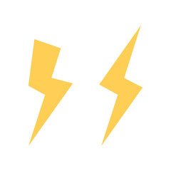 Lightning bolt vector icon. Flash icon. Bolt of lightning vector. Streak of light sign. Electric bolt flash icon.
