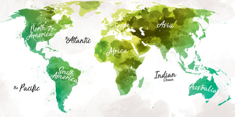 Wall Murals World Map World Map