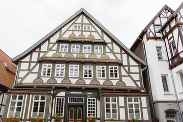 historische Fassaden in der Innenstadt der Stadt Detmold