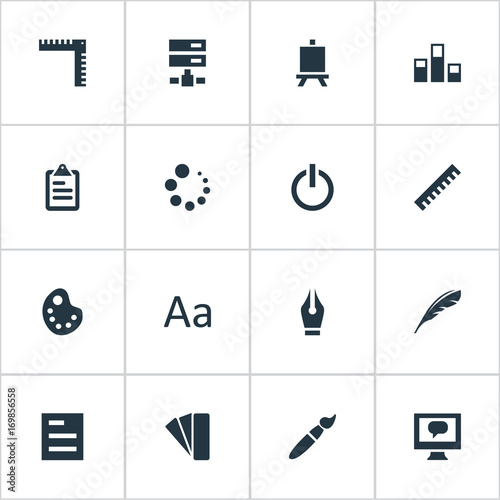 Vector Illustration Set Of Simple Icon Icons  Elements Loading