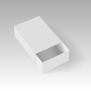 Blank of opened paper or cardboard box template. Vector illustration