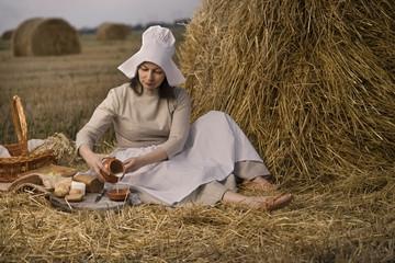 Traditional dutch woman