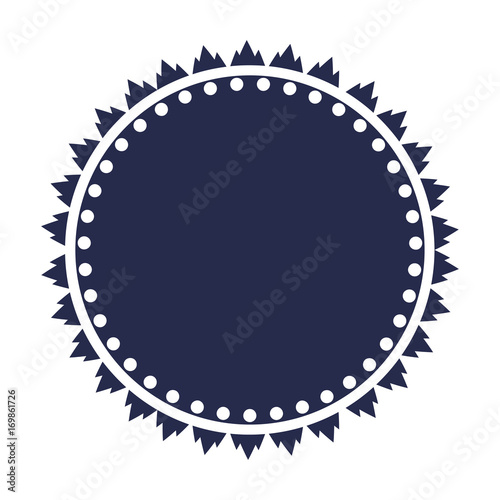 round badge vector with a space for copy or text retro circle badge