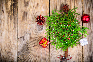 New Year's Concept. Spruce tree