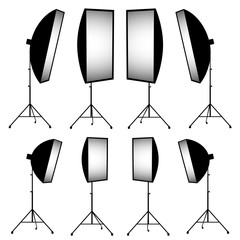 lighting equipment, strip soft box vector