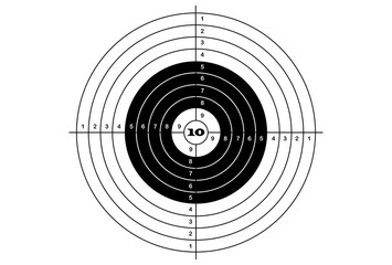 target shooting classical black color