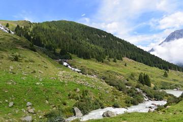 Taschachbach im Taschachtal - Pitztal  Ötztaler Alpen- Tirol